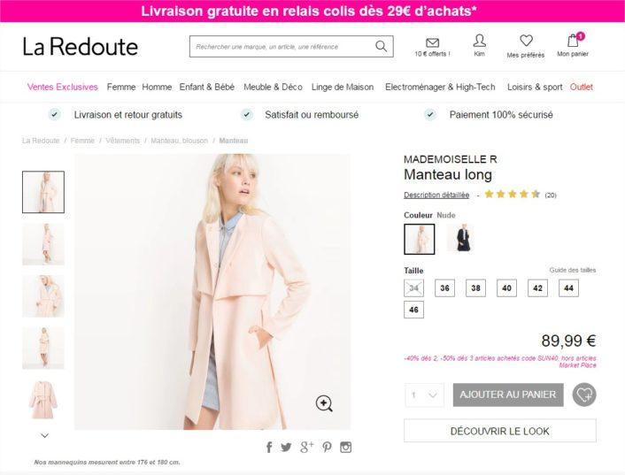 Manteau long Mademoiselle R La Redoute