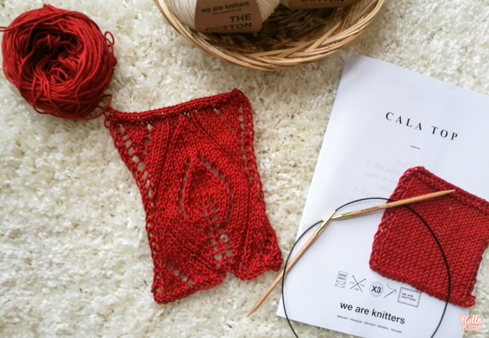 Échantillon Cala top en coton pima We are knitters