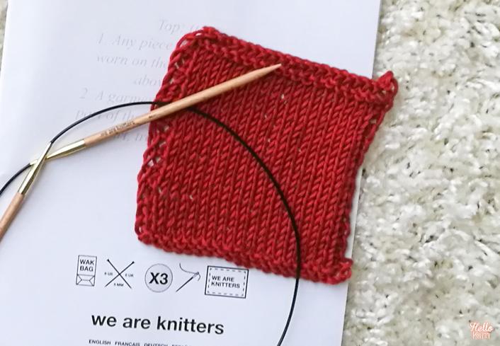Échantillon en jersey endroit pour le Cala top en coton pima We are knitters