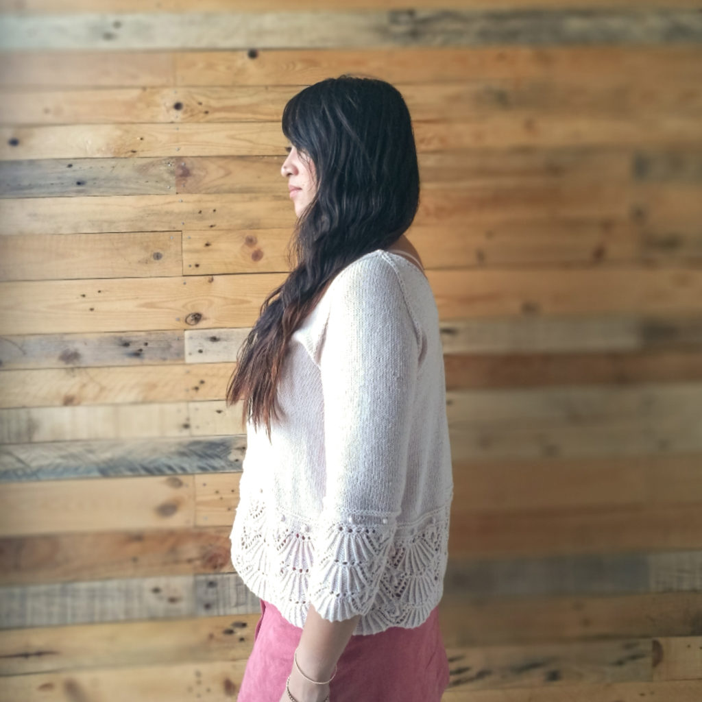 Shell we cardigan - Porté