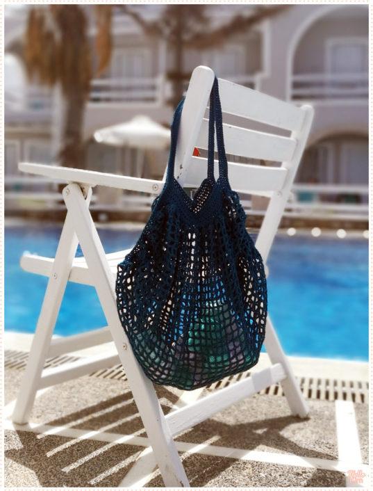 Shopping bag au crochet