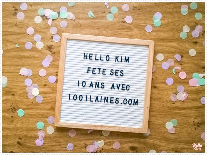 10 ans Hello Kim x 1001 laines