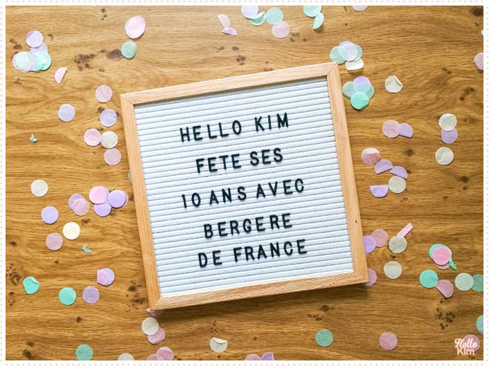 10 ans Helo Kim x Bergère de France