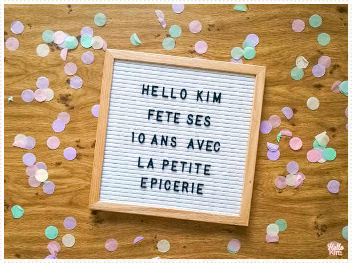 10 ans Hello Kim x La Petite Épicerie