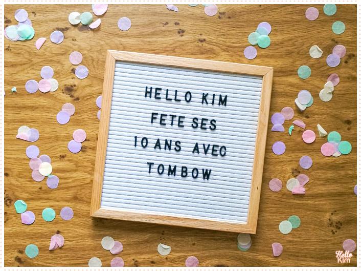 10 ans Hello Kim x Tombow