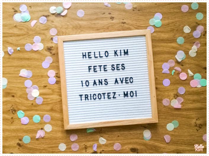 10 ans Hello Kim x Tricotez-moi