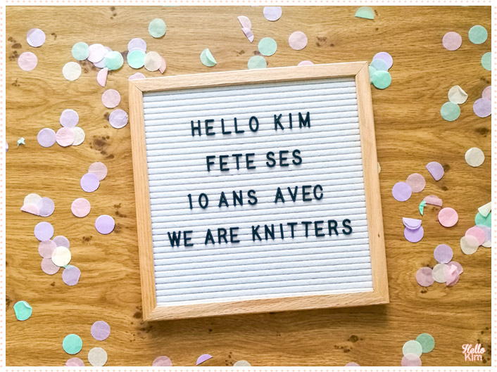 10 ans Hello Kim x We are Knitters
