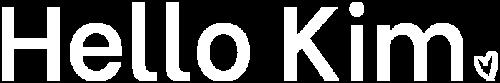 Logo HelloKim blanc