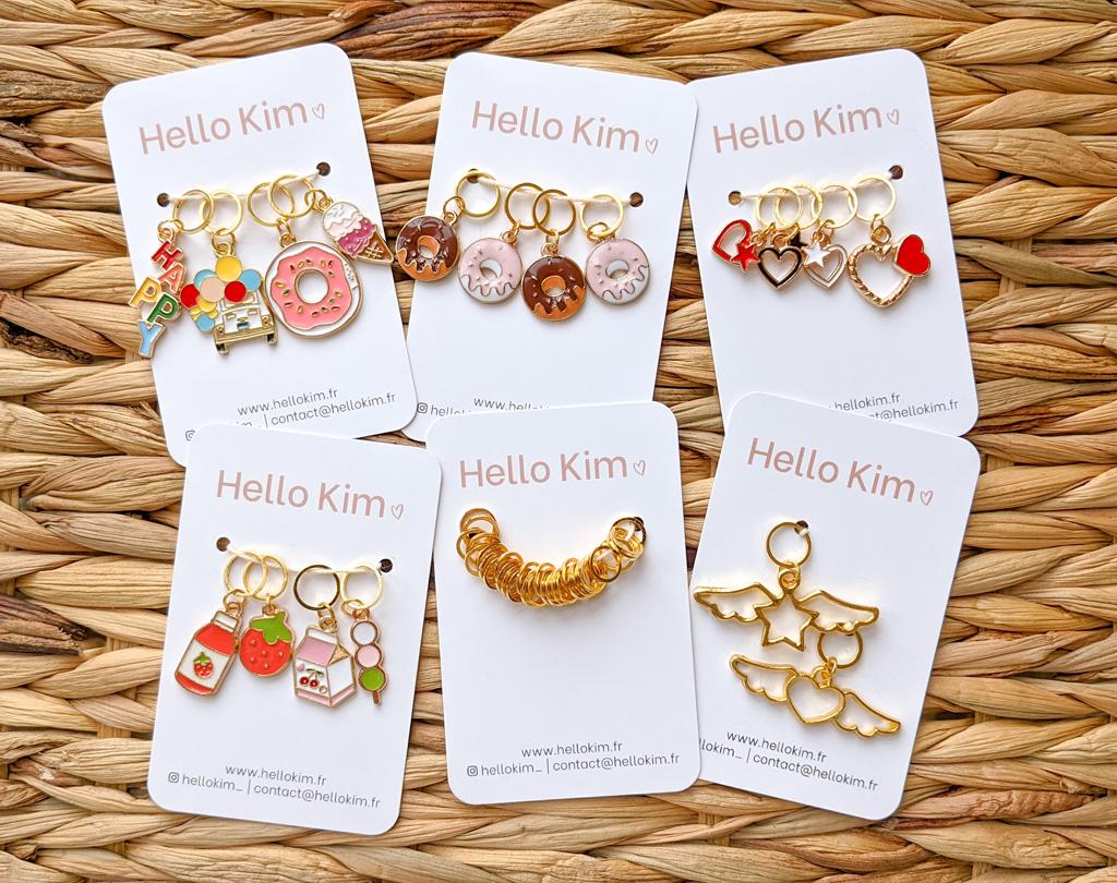 Collection d'anneaux marqueurs - Boutique Etsy HelloKimFR