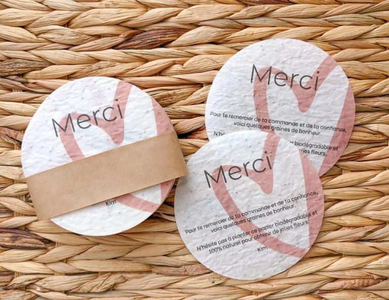 Cadeau - Papier avec graines de coquelicot