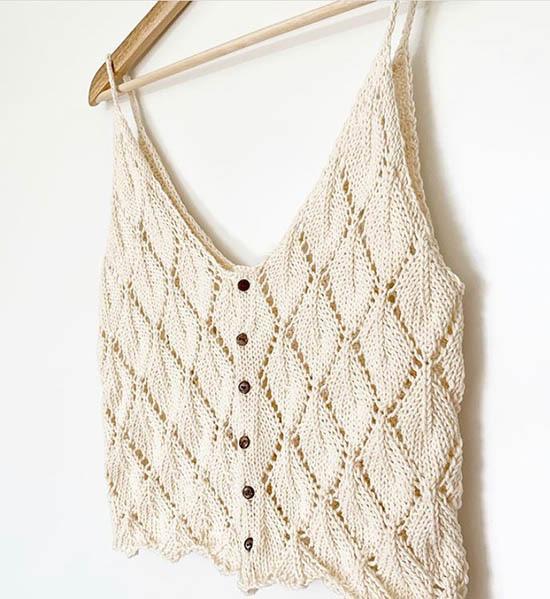 Leaf Top, The Knit Stitch