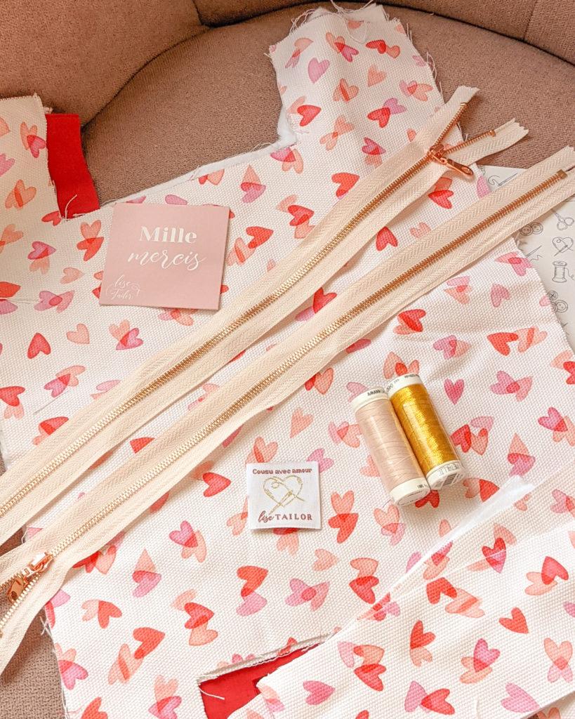 Kit couture Lise Tailor, pochette zippée XL
