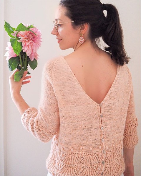 Shell we cardigan de Camille knit